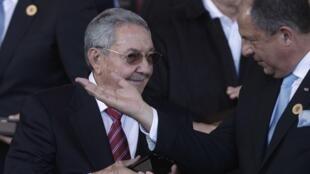 Raúl Castro, presidente de Cuba, durante la cita de CELAC en Costa Rica. Miércoles 28 de enero.