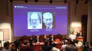 La Academia Sueca anuncia los nombres de James P. Allison y Tasuku Honjo como los ganadores del premio Nobel de Medicina 2018