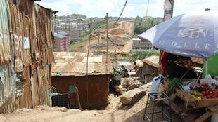 Bidonville de Kibera.