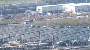 Channel tunnel at Folkestone, England