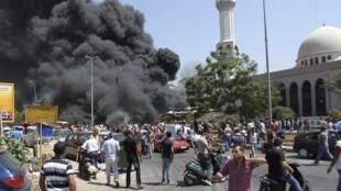 As explosões aconteceram nos arredores de duas mesquitas de Trípoli, nesta sexta-feira 23 de agosto.