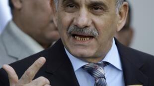 Saleh al-Motlaq, chef de file du Front du dialogue nationale, à Bagdad le 8 janvier 2010.