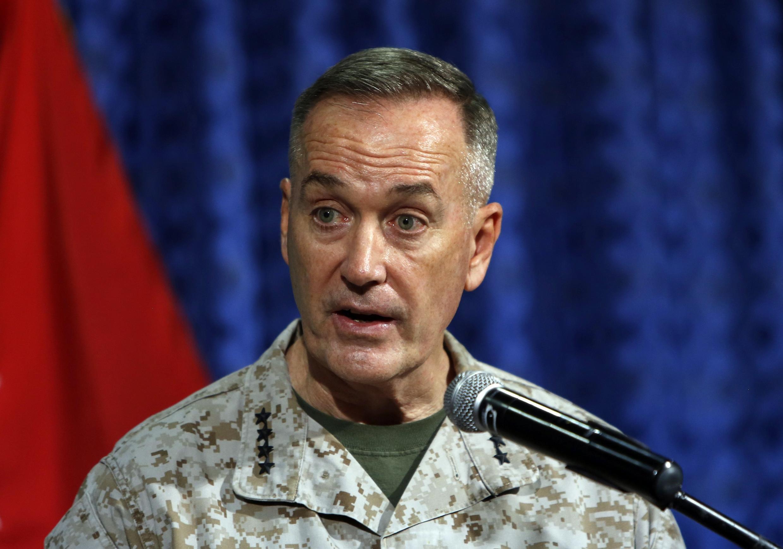 Le général Joseph Dunford, commandant en chef de l'Isaf, le 18 juin 2013 à Kaboul.