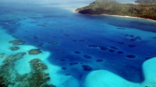 Recifes de corais no arquipélago de Santo André, Providência e Santa Catarina, na Colômbia.