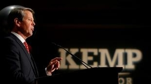 O governador conservador da Geórgia, Brian Kemp.