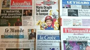 Diários franceses desta sexta-feira 23 de Janeiro de 2015.