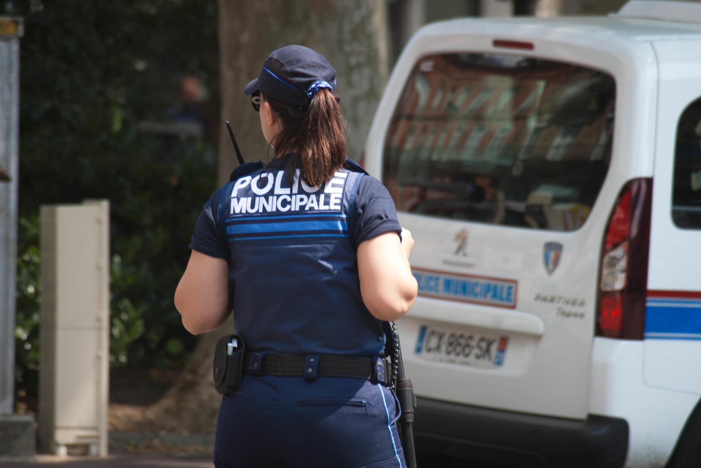 Une policière municipale à Toulouse.