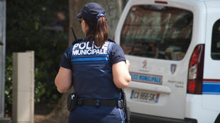 A Police officer in Toulouse