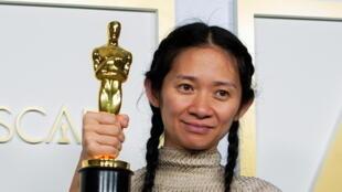 赵婷的《无依之地》获奥斯卡最佳影片奖,最佳导演奖2021年4月25日洛杉矶