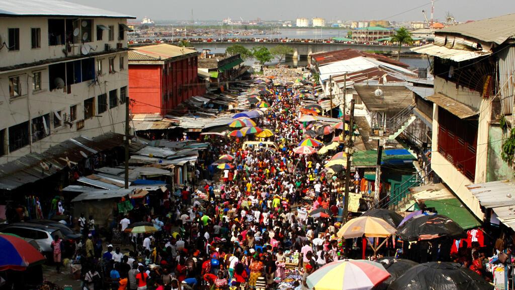 Vue de Monrovia au Liberia.