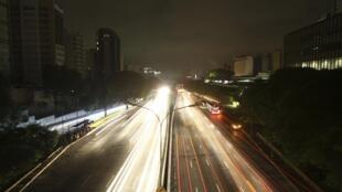 Une panne d'électricité a plongé la ville de Sao Paulo dans le noir, le 10 novembre 2009.