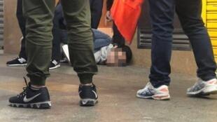 疑似涉案男子被捕时资料图片
