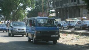 Transport public à Pointe-Noire au Congo-Brazzaville.