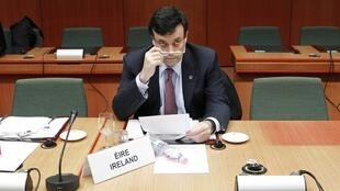 Finance Minister Brian Lenihan in Brussels on 17 January