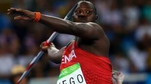 Julius Yego, mrusha mkuki wa Kenya aliyemaliza wa pili katika Michezo ya Olimpiki mwaka 2016 nchini Brazil