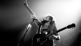 Bob Marley and the Wailers, lors d'un concert à Voorbug, aux Pays-Bas en 1976.