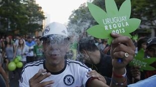 Uruguaios fumam maconha depois da legalização da produção e venda da erva.