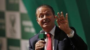 Eduardo Campos, 49 anos, durante uma reunião em Brasília, no último dia 6