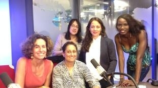 De gauche à droite: Emmanuelle Bastide, Vaiju Naravane, Ana Navarro Pedro, Paola Martinez Infante, Prisca Ogouma.