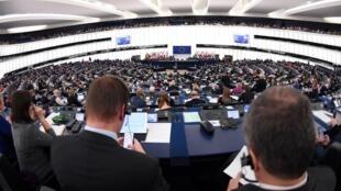 Các nghị sĩ châu Âu trong một phiên họp ngày 13/11/2018.