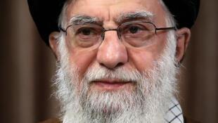 El ayatolá Alí Jamenei, durante su discurso televisado a la nación, el 22 de mayo de 2020 en Teherán