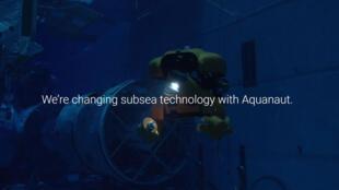 Capture d'écran issue du site internet d'Houston Mechatronics qui est la société qui a développé l'Aquanaut.