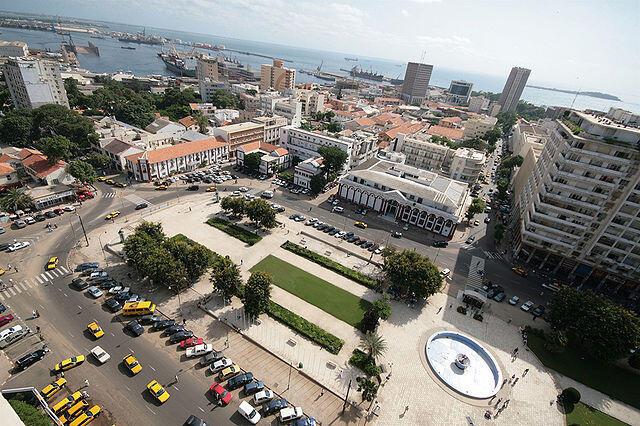 Vue aérienne de Dakar où se trouve l'hôpital centenaire Aristide-Le-Dantec (photo d'illustration).