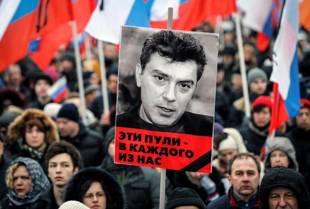 Марш в память Бориса Немцова в Москве, 1 марта 2015.