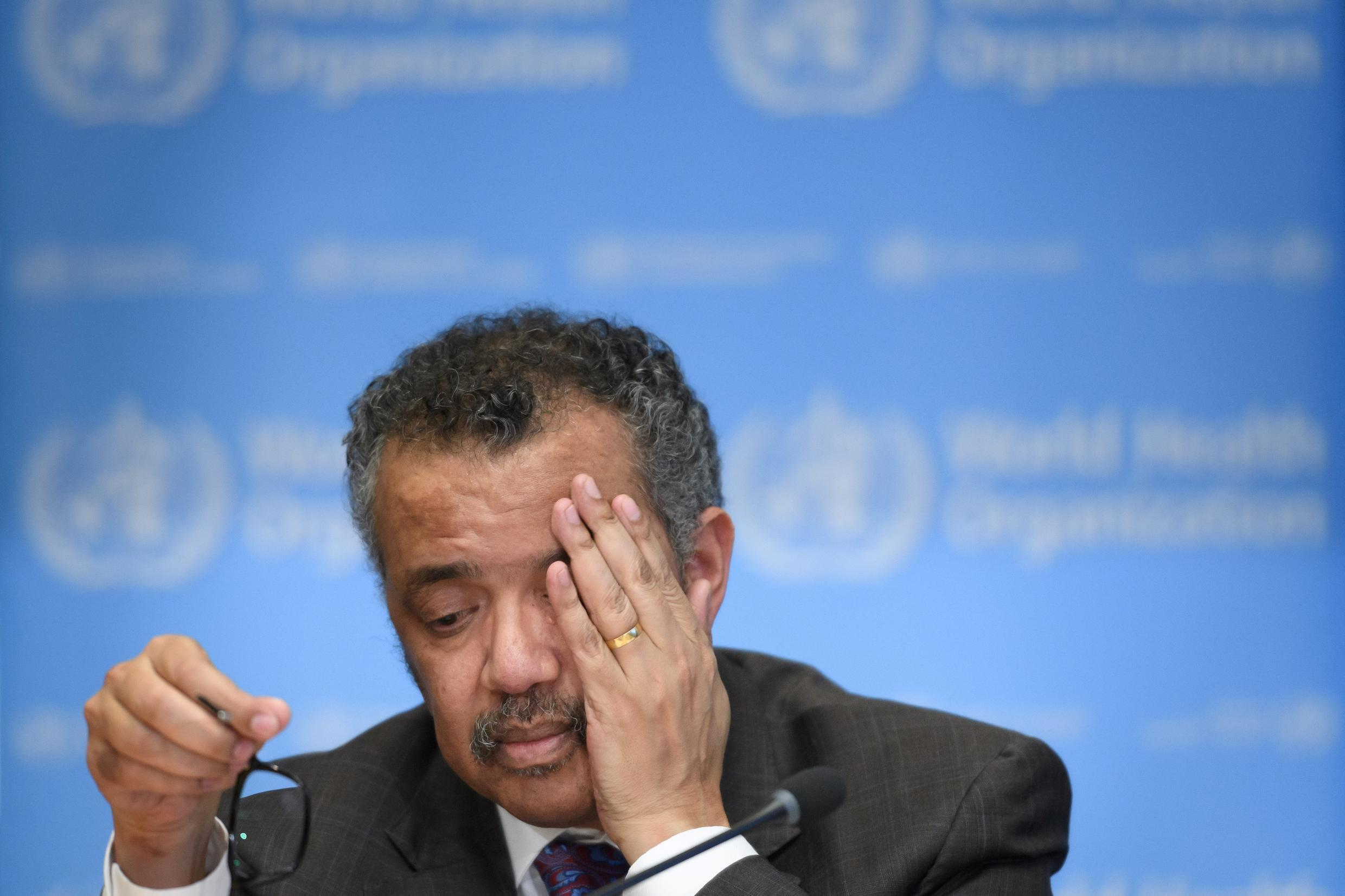 'It's sobering to think that six months ago, when you recommended I declare a(n emergency), there were less than 100 cases and no deaths outside China,' said WHO chief Tedros