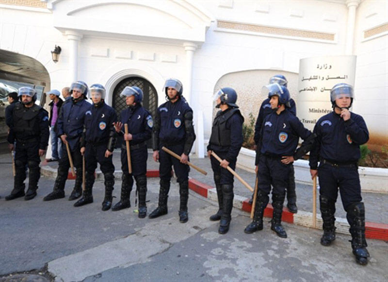 Police block off ALger's streets last week