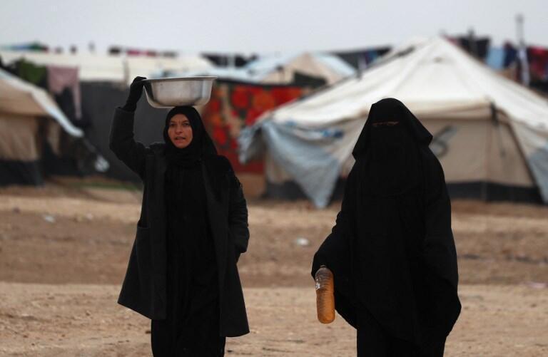 Des femmes dans un camp de déplacés syriens à Al-Hol, dans le gouvernorat d'Hassaké, le 17 décembre 2018. (photo d'illustration)