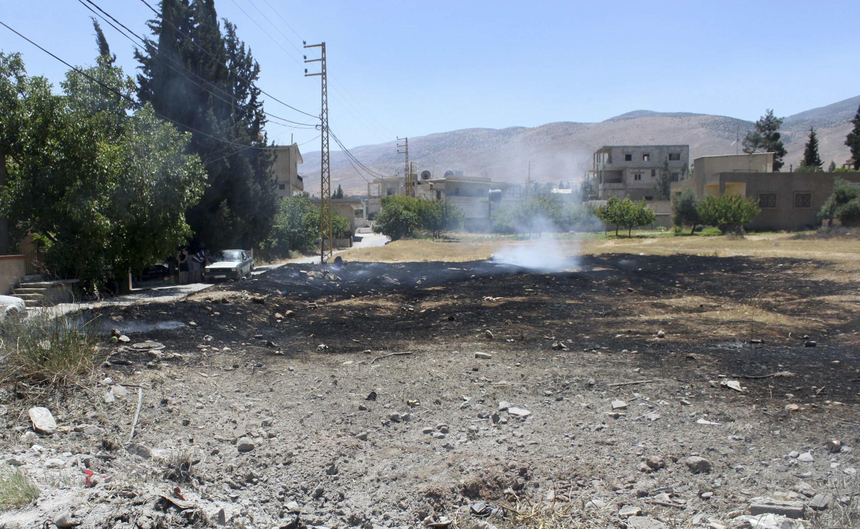 En Hermel, luego de un ataque con cohete por parte de los rebeldes sirios, en junio de 2013.