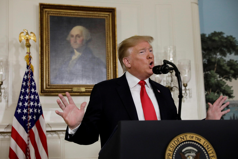 """Tổng thống Hoa Kỳ Donald Trump phát biểu tại Nhà Trắng (Washington, USA), ngày 19/01/2019 về an ninh biên giới và tình trạng """"shutdown""""."""