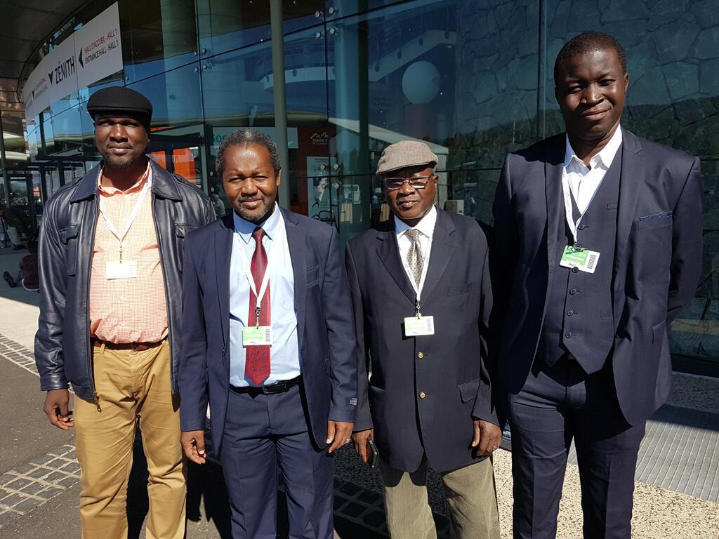 De g. à dr. : Beydi Amadou Dembélé, Diakaridia Traoré, Amadou Napo et Ibrahima Bathily.
