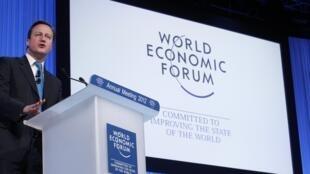 O premiê britânico, David Cameron, durante o Fórum Econômico Mundial, em Davos, nesta quinta-feira.