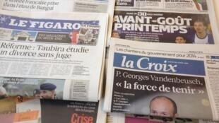 Primeiras páginas diários franceses 3/12/2013