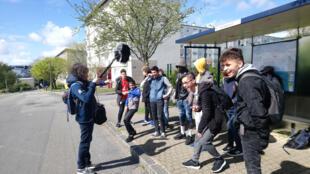 Les élèves allophones du collège St-Pol-Roux de Brest au printemps 2019.