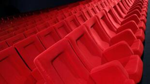 Một phòng chiếu phim của Cung Liên Hoan Cannes, Pháp