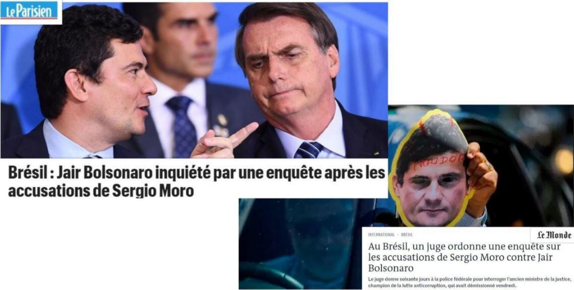A imprensa francesa destaca a investigação sobre as acusações de Sergio Moro contra Jair Bolsonaro.