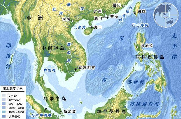 中國、菲律賓與越南等國都宣稱擁有南海水域主權