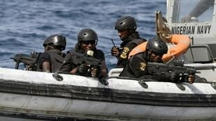 Nigerian special forces taking part in an anti-piracy drill in the Gulf of Guinea in 2019