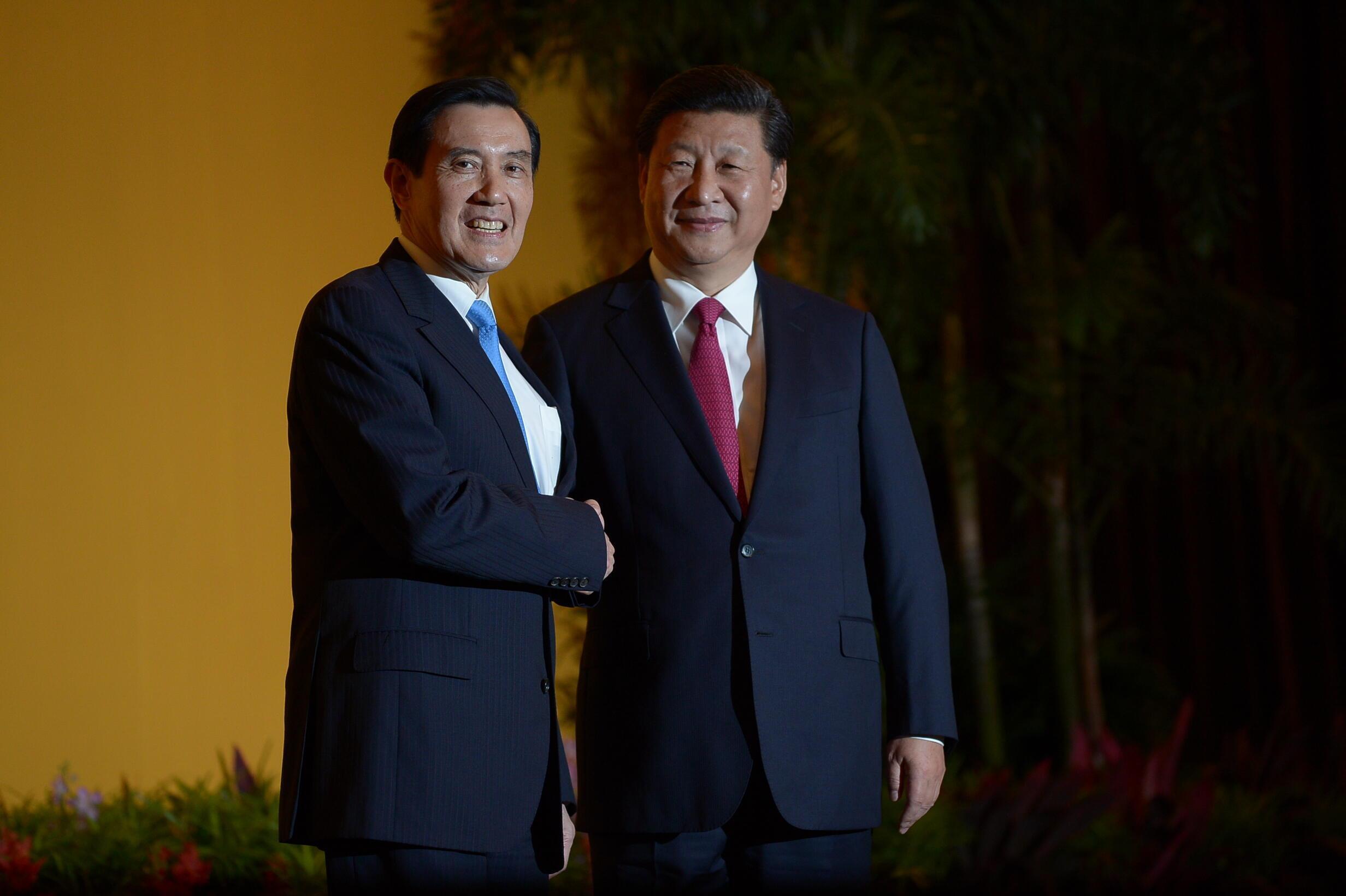 Shugaban Taiwan Ma Ying-jeou da na cbhina Xi Jinping ranar 7 ga watan nuwambar 2015  a Singapour.