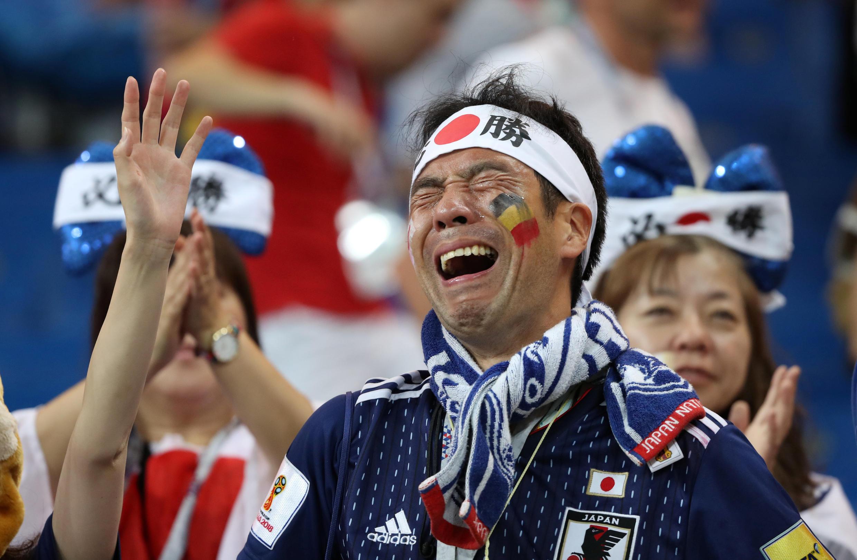 La détresse d'un supporter japonais.
