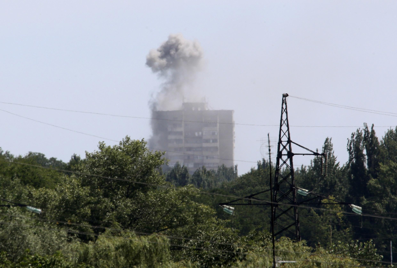 Город Шахтёрск в Донецкой области. 28 июля