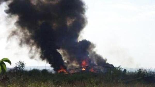 Вертолет, сбитый на линии соприкосновения Нагорного Карабаха азербайджанской стороной 12/11/2014