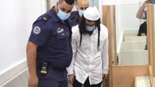 Amiram Ben Uliel au tribunal de Lod, le 18 mai 2020.