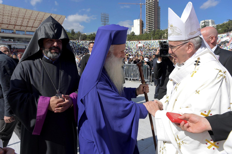 Папа римский Франциск в Тбилиси 1 октября 2016