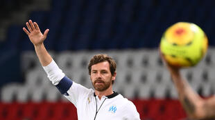 L'entraîneur de Marseille, André Villas-Boas, lors du match de Ligue 1 face au PSG, au Parc de Princes, le 13 septembre 2020