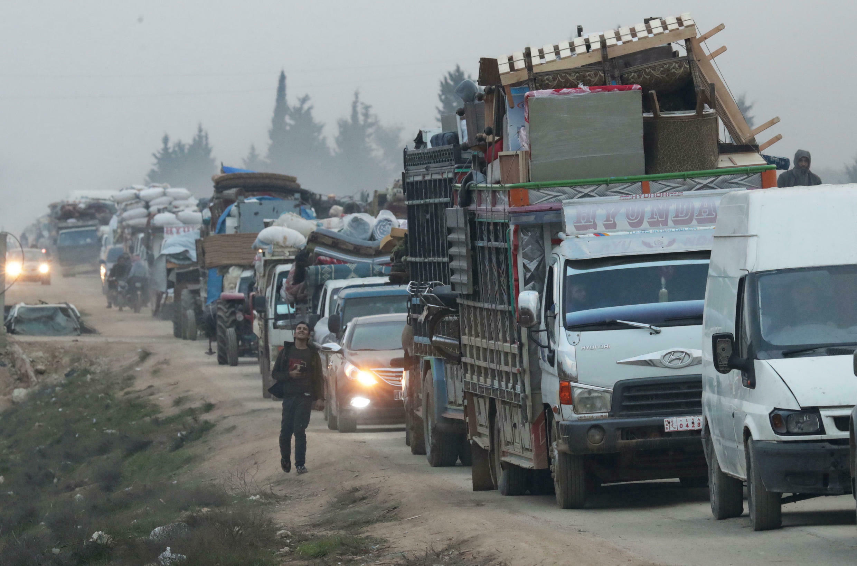 Сотни тысяч человек покинули свои дома в провинции Идлиб на фоне наступления режима Башара Асада при поддержке России, фото от 11 февраля 2020 г.