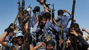 Wasu daga cikin mayakan Houthi na kasar Yemen.